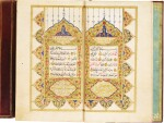 AN ILLUMINATED QUR'AN AND A TREATISE ON QUR'ANIC STUDIES AND PRAYERS, COPIED BY 'ABD AL-BARI, KNOWN AS ADAM, AND AHMAD JAWDET, TURKEY, OTTOMAN, DATED 1132 AH/1719-20 AD AND 1251 AH/1835-36 AD