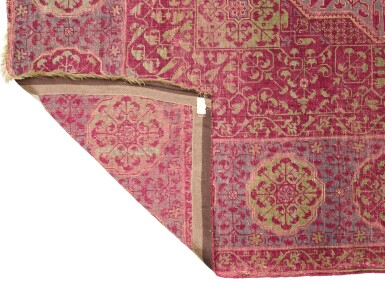 View 2. Thumbnail of Lot 448. A MAMLUK CARPET, EGYPT, PROBABLY CAIRO, SECOND HALF 15TH CENTURY OR EARLY 16TH CENTURY.