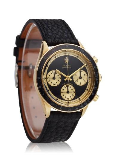 View 2. Thumbnail of Lot 220. Reference 6241 Daytona Paul Newman 'John Player Special'  A yellow gold chronograph wristwatch, Circa 1968.