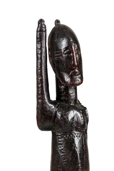 View 4. Thumbnail of Lot 15. Statue, Dogon Djennenké, Mali   Dogon Djennenke figure, Mali.