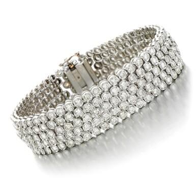 View 1. Thumbnail of Lot 20. Diamond bracelet.