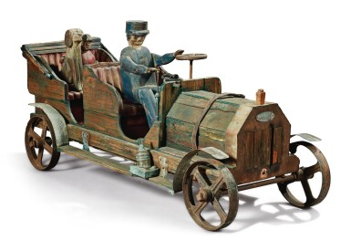 View 3. Thumbnail of Lot 1492. VERY RARE LOCOMOBILE AND PASSENGERS SCULPTURE, CIRCA 1925.