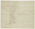 Washington, George. Manuscript letter signed, to the Citizens of New York, [26-27 November 1783]