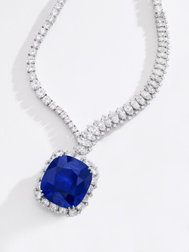 View 5. Thumbnail of Lot 178. Harry Winston | Exceptional and important sapphire and diamond necklace | 海瑞溫斯頓 | 藍寶石配鑽石項鏈.