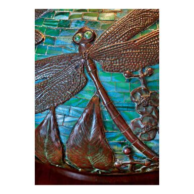 """View 3. Thumbnail of Lot 86. """"Dragonfly"""" Table Lamp."""