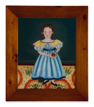 View 2. Thumbnail of Lot 1476. JANA VINOPAL   YOUNG AMERICAN GIRL HOLDING FRUIT WITH A CAT.