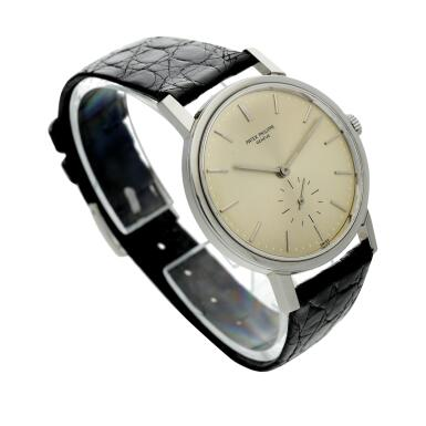 View 3. Thumbnail of Lot 237. Reference 3466  A stainless steel automatic wristwatch, Made in 1963.