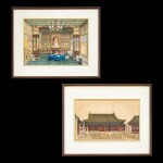 Anonymous, 1861 Two Views of the British Legation in Peking, commissioned by Frederick Bruce | 佚名 1861年   北京英國公使館二景一組兩幅   由英國外交官弗雷德里克.布魯斯委託而製
