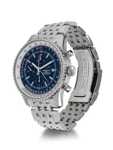 View 2. Thumbnail of Lot 11. BREITLING | NAVITIMER, REFERENCE A24322, STAINLESS STEEL DUAL-TIME CHRONOGRAPH WRISTWATCH WITH DATE AND BRACELET, CIRCA 2014.