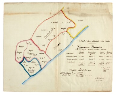 C.G. GORDON | autograph map of South Africa, 1882