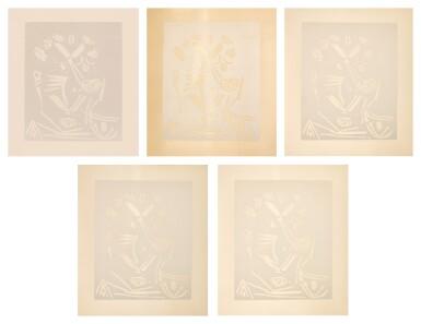 PABLO PICASSO | FIVE WORKS: PORTRAIT D'HOMME (B. 1230; BA. 1848; PP. L-188)