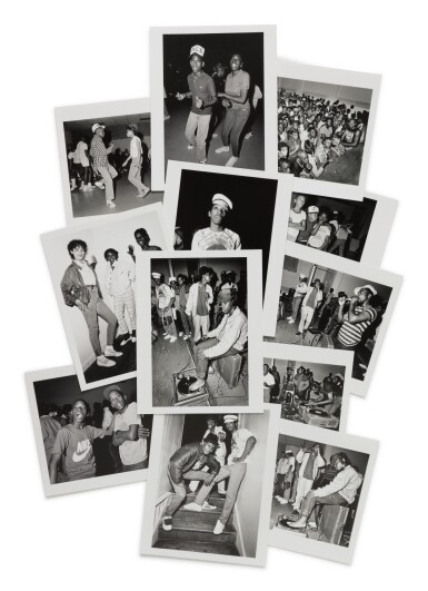 """View 1. Thumbnail of Lot 26. JOHN NORDELL   """"RUSTY THE 'TOEJAMMER' CONCERT PHOTOS"""", BOSTON, 1985."""