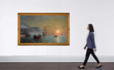 View 4. Thumbnail of Lot 21. Columbus' Farewell before Starting on his Voyage from Port Palos in Spain.