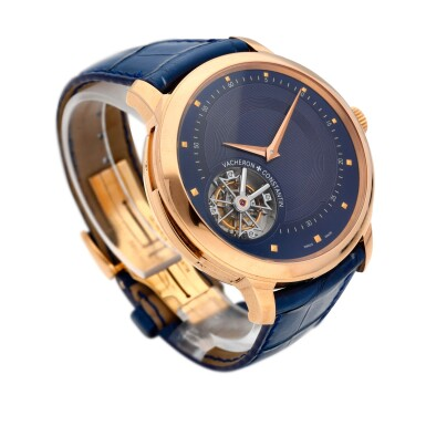 """View 4. Thumbnail of Lot 12. Unique """"Les Cabinotiers"""" reference 30015/000R-9608 A unique 18k pink gold manually wound minute repeating tourbillon with hidden perpetual calendar with moonphases beneath an officer case-back, circa 2011."""
