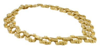 View 2. Thumbnail of Lot 23. TIFFANY & CO.   GOLD NECKLACE.