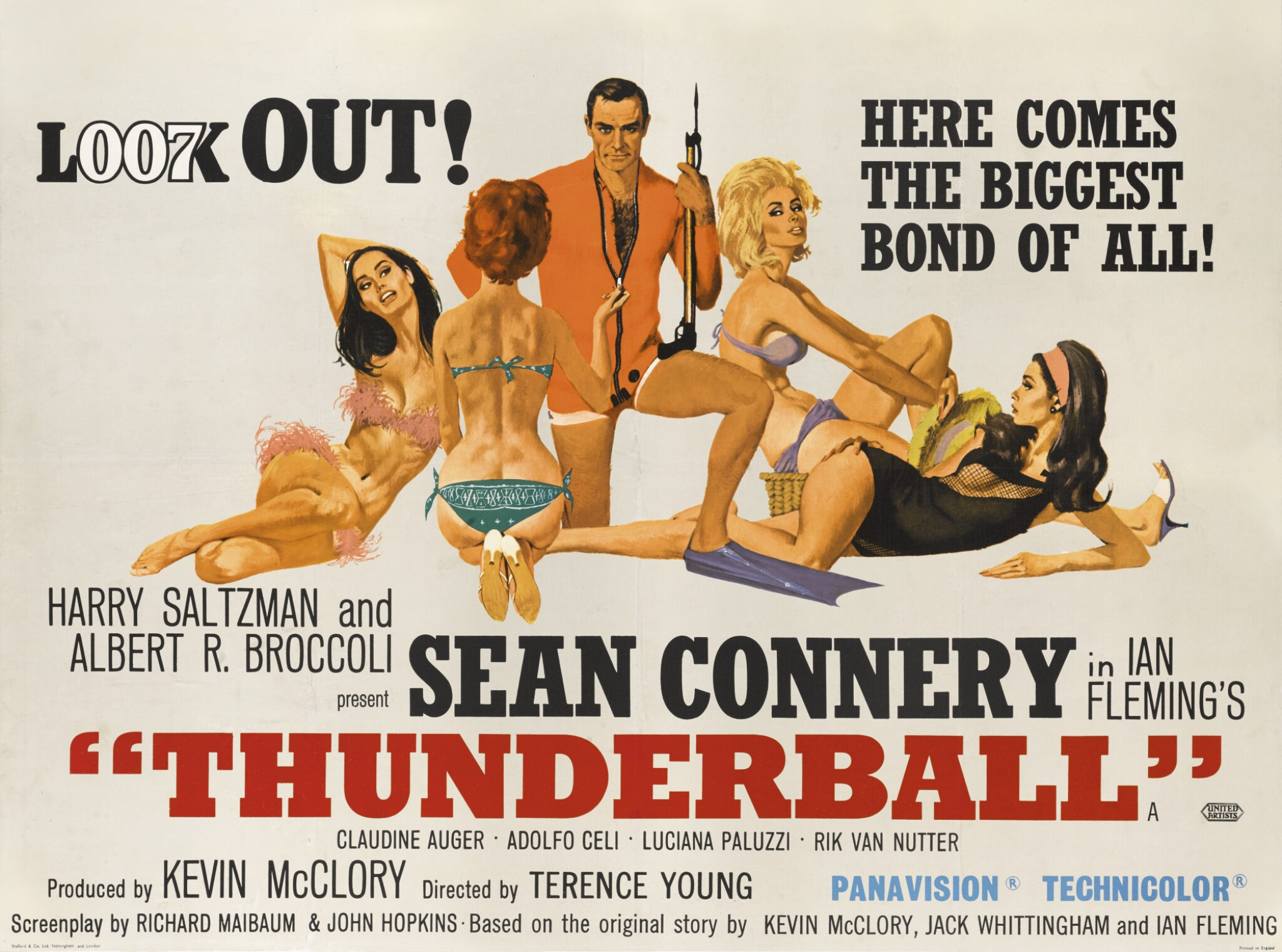 View full screen - View 1 of Lot 108. Thunderball (1965) poster, British.