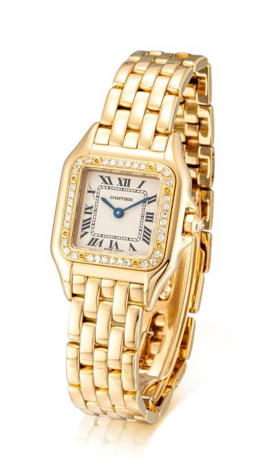 View 2. Thumbnail of Lot 8091. CARTIER   PANTHÈRE, REFERENCE 8057915   A YELLOW GOLD AND DIAMOND-SET WRISTWATCH WITH BRACELET, CIRCA 2010   卡地亞   Panthère 型號8057915    黃金鑲鑽石鏈帶腕錶,約2010年製.