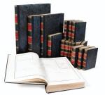 DUMONT D'URVILLE. Voyage de la corvette L'Astrolabe. Paris, J. Tastu, 1830-1833. 17 vol. Reliure moderne.
