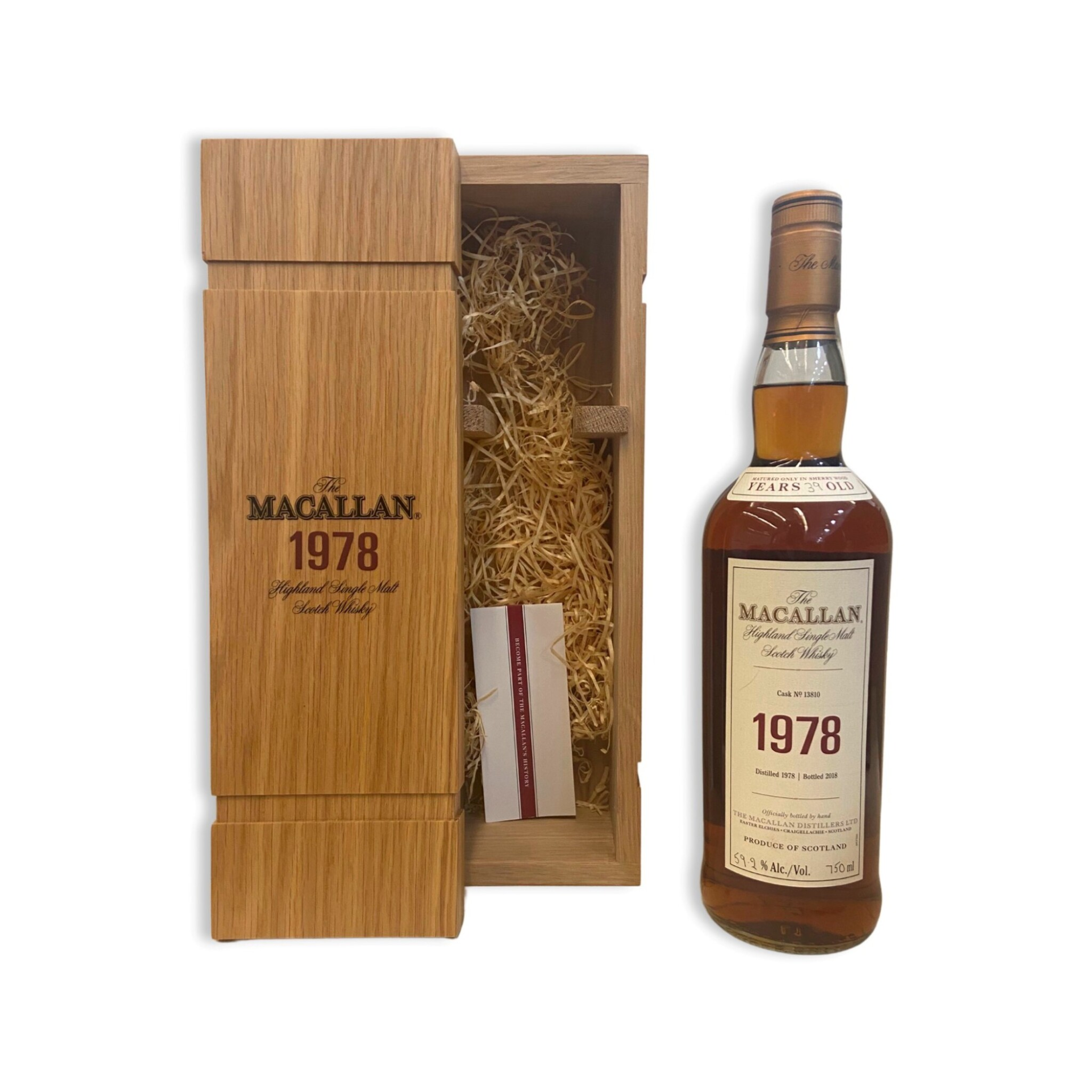 View full screen - View 1 of Lot 7. The Macallan Fine & Rare 39 Year Old 59.2 abv 1978 (1 BT75).