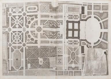 View 4. Thumbnail of Lot 65. Dichiarazione dei Disegni del reale Palazzo di Caserta. Naples, 1756. In-folio. Reliure de l'époque..