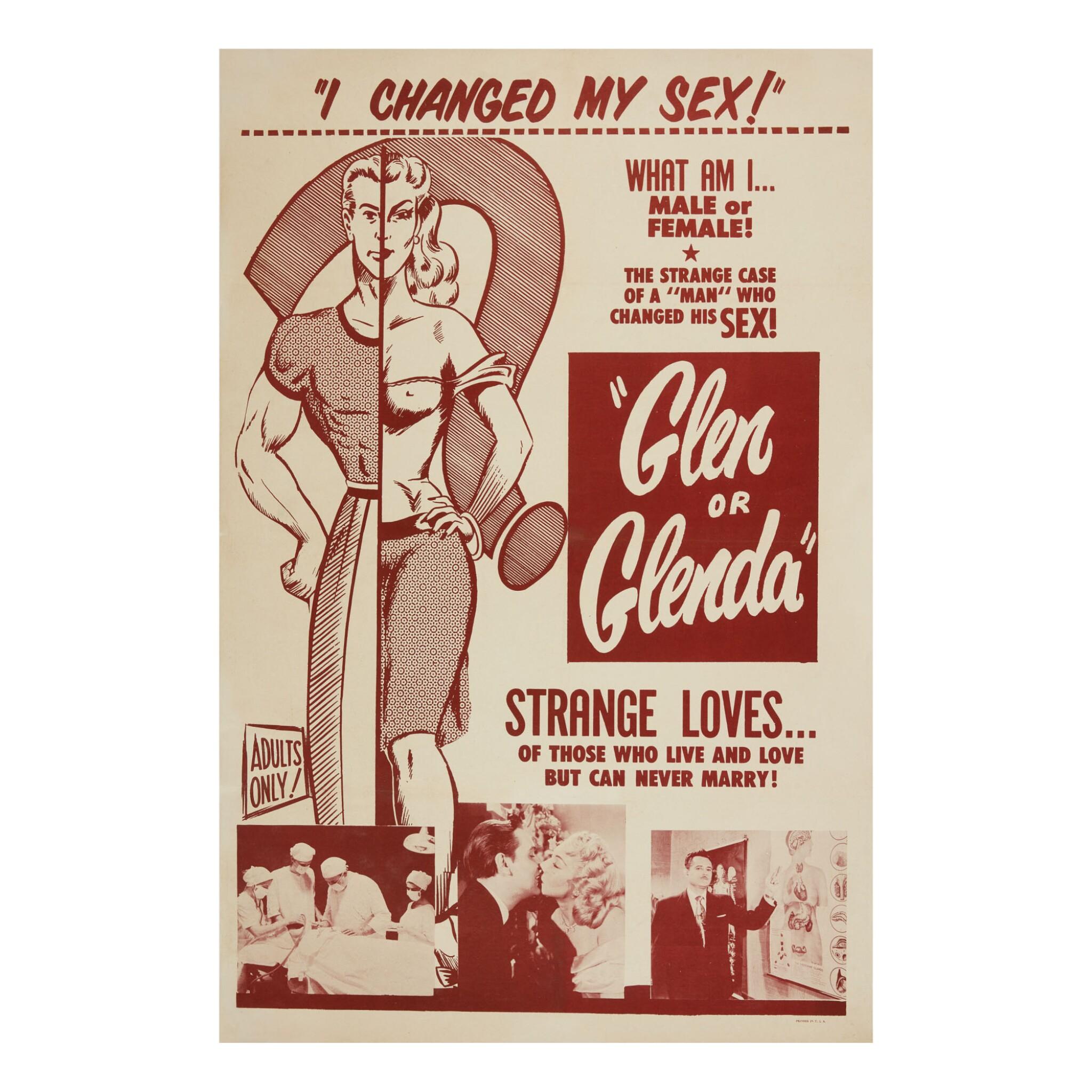 "View full screen - View 1 of Lot 88. GLEN OR GLENDA, ALTERNATE TITLE: ""I LED 2 LIVES,"" (SCREEN CLASSICS INC., 1953) ."