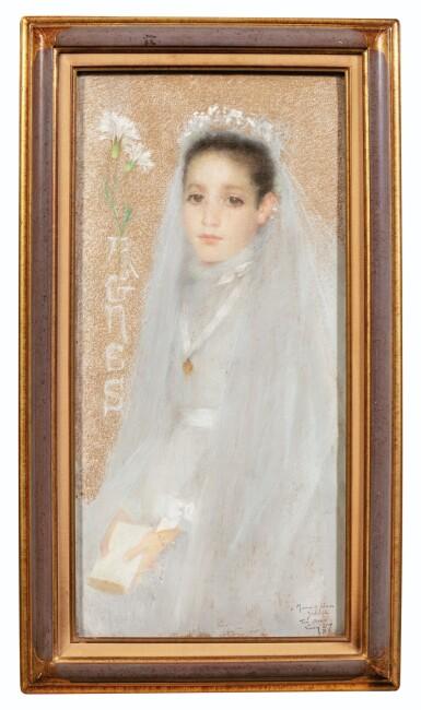 View 2. Thumbnail of Lot 41. LUCIEN LÉVY-DHURMER | PORTRAIT OF AGNÈS IN HER COMMUNION DRESS.