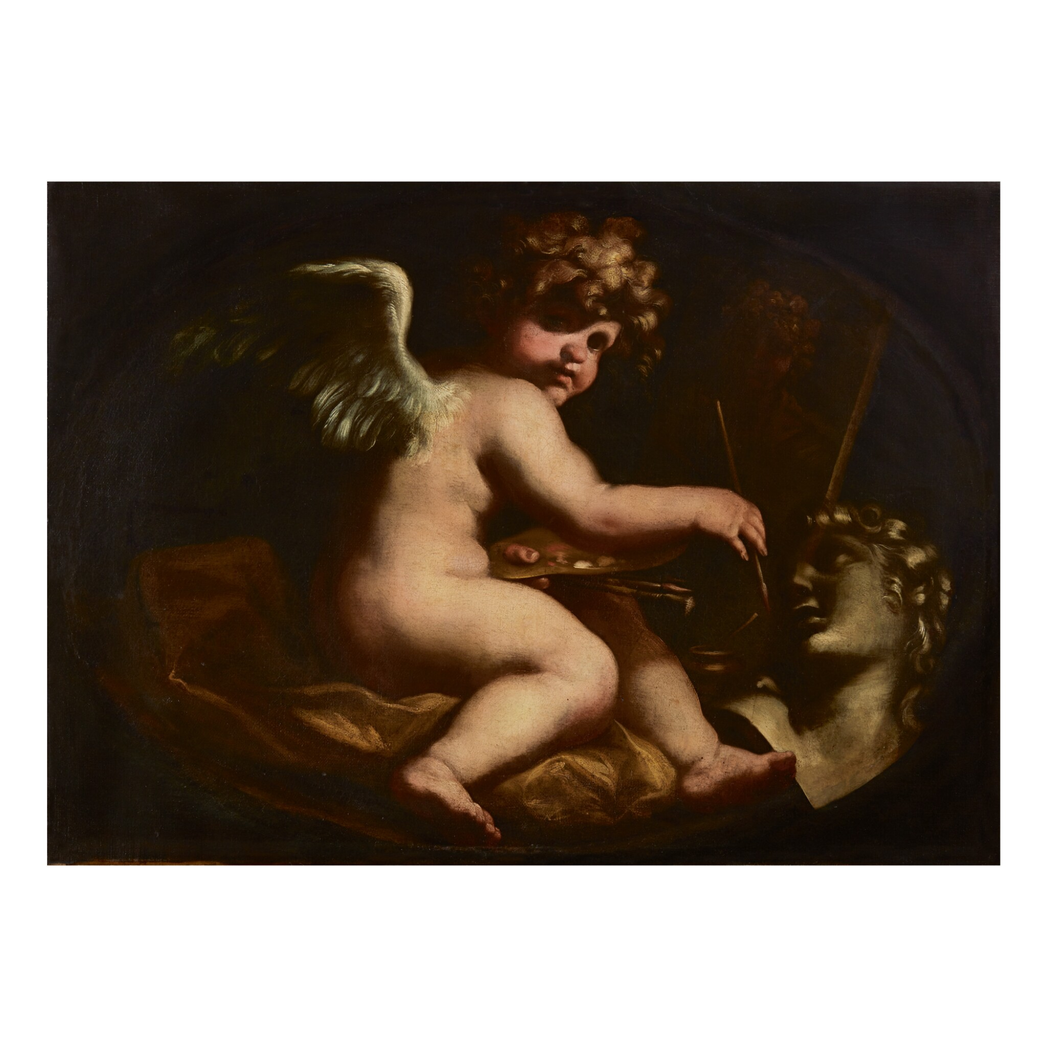 View full screen - View 1 of Lot 128. GENOESE SCHOOL, 17TH CENTURY | ALLEGORY OF PAINTING.