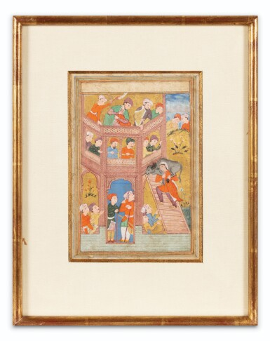 View 4. Thumbnail of Lot 67. INDIA AND CENTRAL ASIA, 17TH-19TH CENTURIES | THREE MINIATURES.