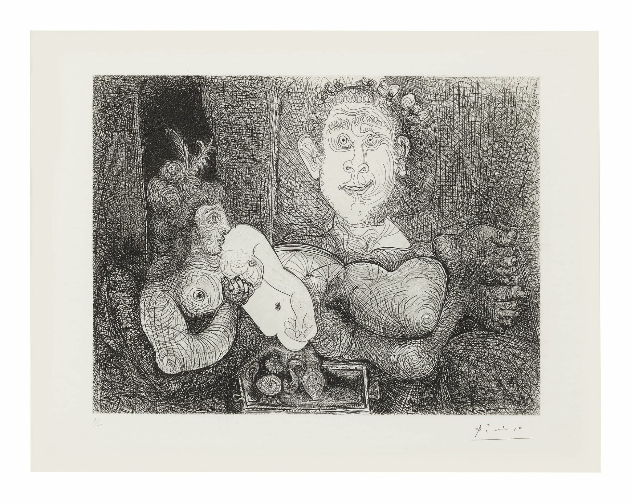 Les Coulisses du tableau. Odalisque et peintre (B. 1858; Ba. 1863)