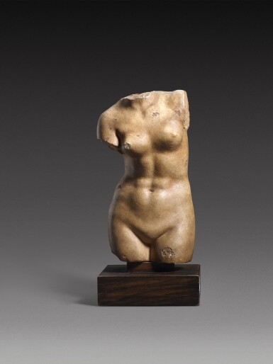 View 1. Thumbnail of Lot 30. A Hellenistic Marble Torso of Aphrodite Anadyomene, circa 2nd/1st Century A.D..