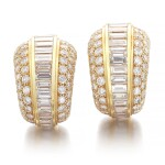 Cartier | Pair of diamond ear clips | 卡地亞 | 鑽石耳環一對