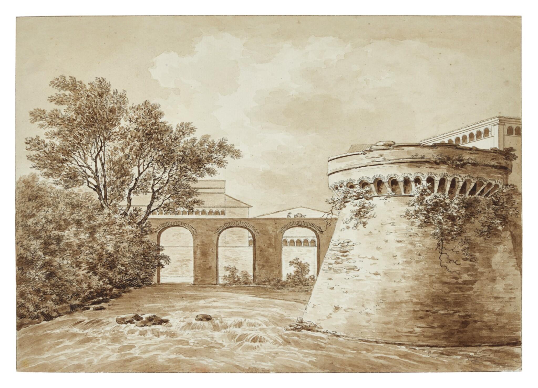 DANIËL DUPRÉ | THE ABBEY AND RIVER AT GROTTAFERRATA