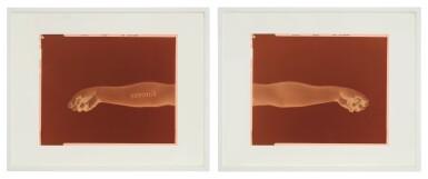 View 1. Thumbnail of Lot 133. DOUGLAS GORDON   LEFT: NEVER, NEVER (BLACK, NEGATIVE, MIRRORED) RIGHT: NEVER, NEVER (WHITE, NEGATIVE, MIRRORED) [TWO WORKS].