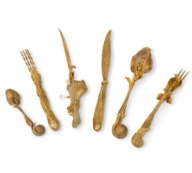 View 2. Thumbnail of Lot 55. Salvador Dali - Cutlery Set comprised of six pieces - 1957 .