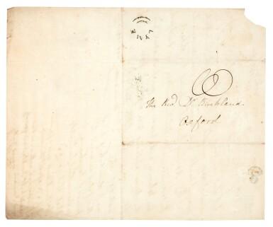 View 2. Thumbnail of Lot 42. Elizabeth Philpot   Autograph letter signed, to William Buckland, 26 June 1835.