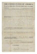 JAMES K. POLK | A scarce James K. Polk presidential land grant reassigning a tract originally deeded to a member of the Creek people