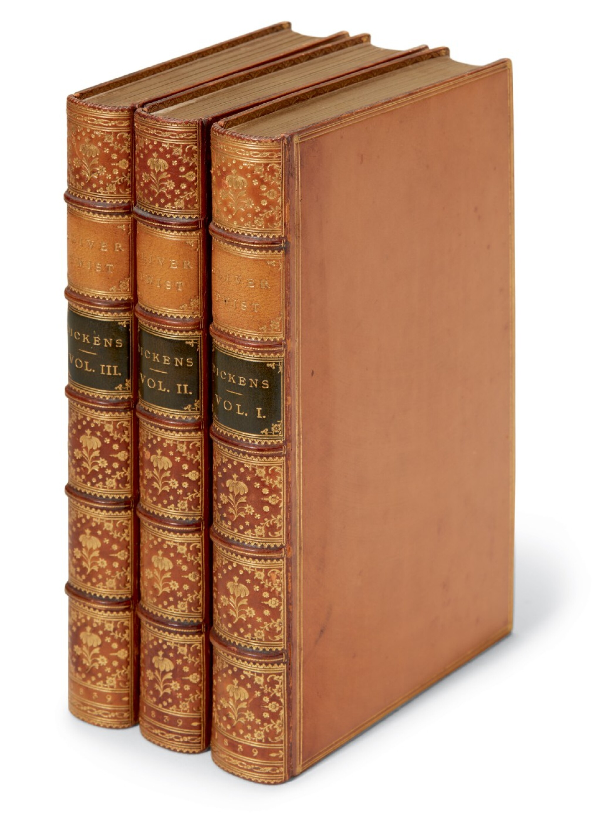 """View full screen - View 1 of Lot 48. Dickens, Oliver Twist, 1839, """"new edition"""" [second edition, later issue]."""