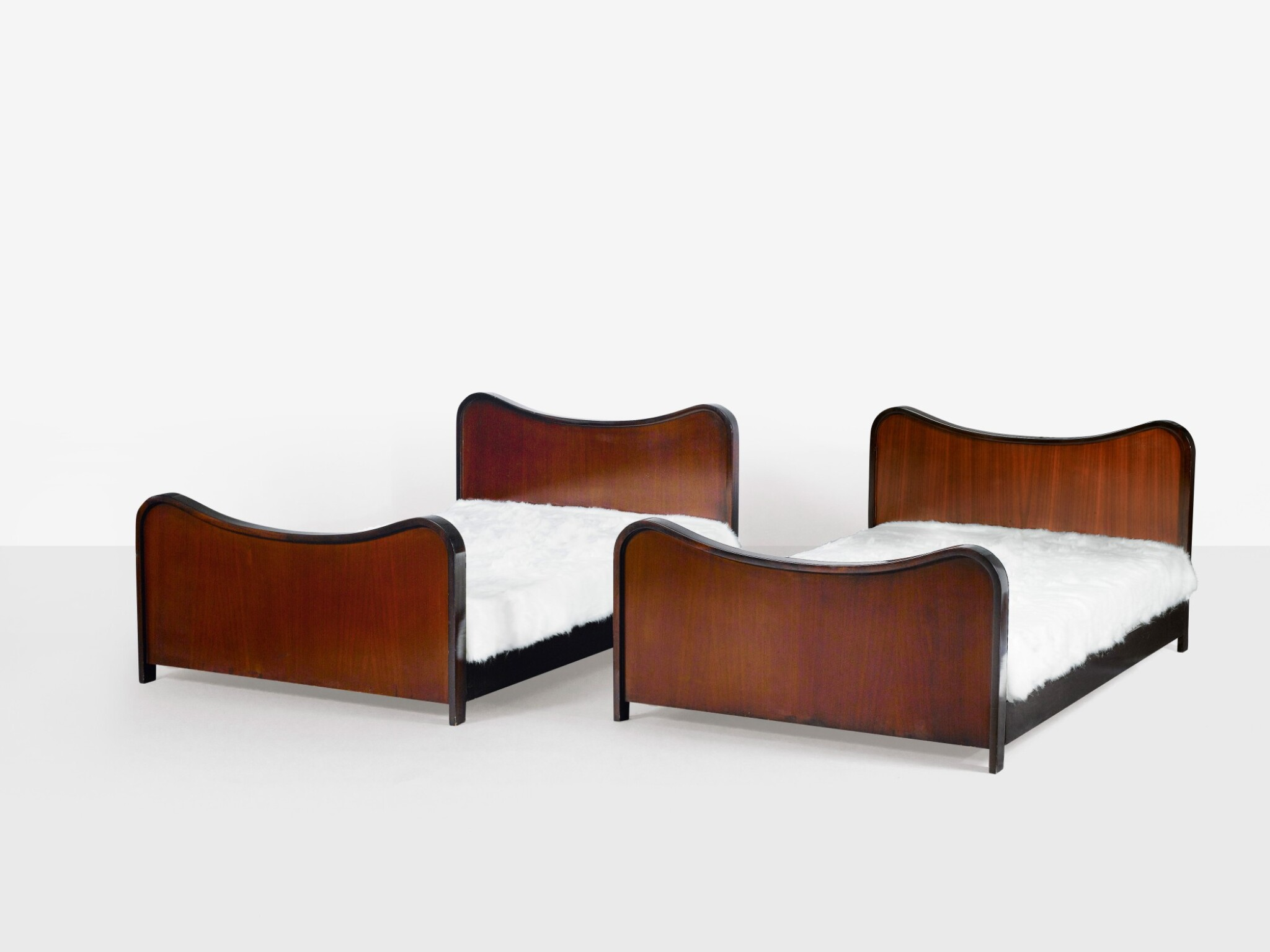 View 1 of Lot 182. JEAN ROYÈRE | TWO BEDS, CIRCA 1950-1960 [DEUX LITS, VERS 1950-1960].