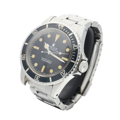 View 3. Thumbnail of Lot 286. REFERENCE 5513 SUBMARINER A STAINLESS STEEL AUTOMATIC WRISTWATCH WITH BRACELET, CIRCA 1977.