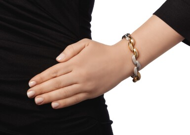 TWO-COLOR GOLD AND DIAMOND BRACELET, TIFFANY & CO.