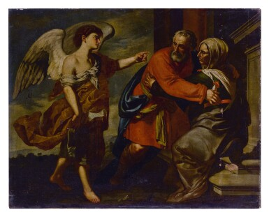 View 1. Thumbnail of Lot 582. The Meeting of Zechariah and Elizabeth.