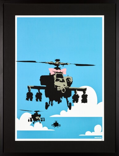 View 2. Thumbnail of Lot 3. BANKSY | HAPPY CHOPPERS.