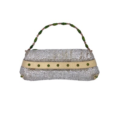 View 2. Thumbnail of Lot 707. GUCCI   TOM FORD SERPENT HEAD CLUTCH BAG IN LIZARD WITH SWAROVSKI CRYSTALS.