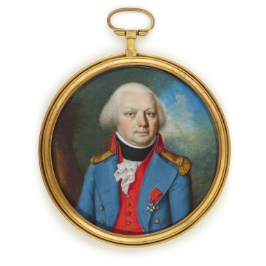 View 1. Thumbnail of Lot 153. Portrait of a gentleman, called Baron Philippe-Eugene Dauger (1744-1804), circa 1795.