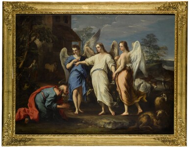View 5. Thumbnail of Lot 173. Abraham and the Three Angels; The Sacrifice of Isaac.