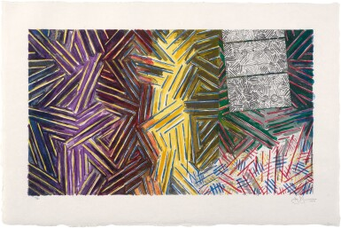 View 1. Thumbnail of Lot 209. JASPER JOHNS | BETWEEN THE CLOCK AND THE BED (ULAE 246).