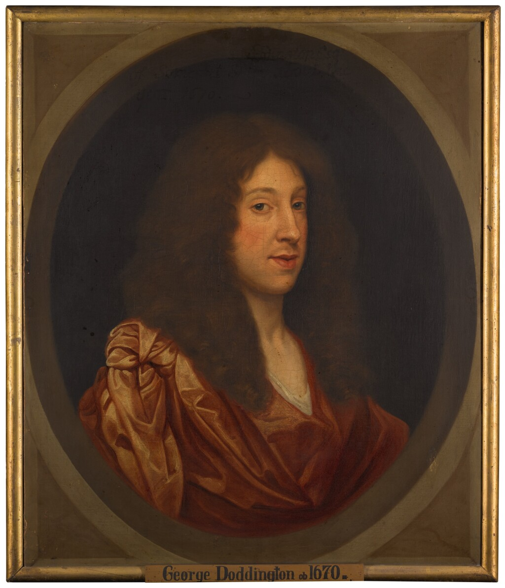 CIRCLE OF GERARD SOEST | Portrait of George Doddington, bust-length, wearing a red cloak