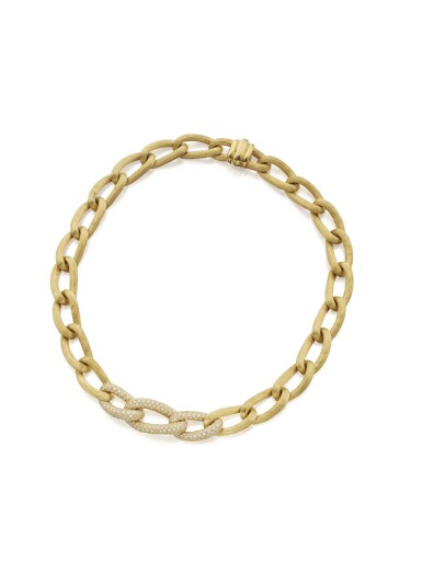GOLD AND DIAMOND NECKLACE, HENRY DUNAY
