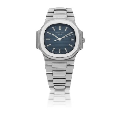 PATEK PHILIPPE | NAUTILUS, REF 3800/001, STAINLESS STEEL BRACELET WATCH WITH DATE MADE IN 1988