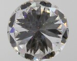 A 3.58 Carat Round Diamond, H Color, Interally Flawless